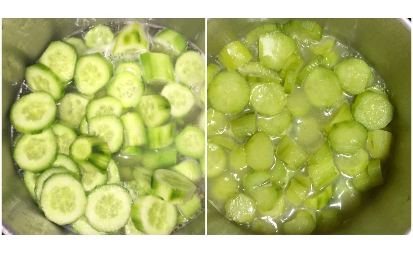 boil cucumber
