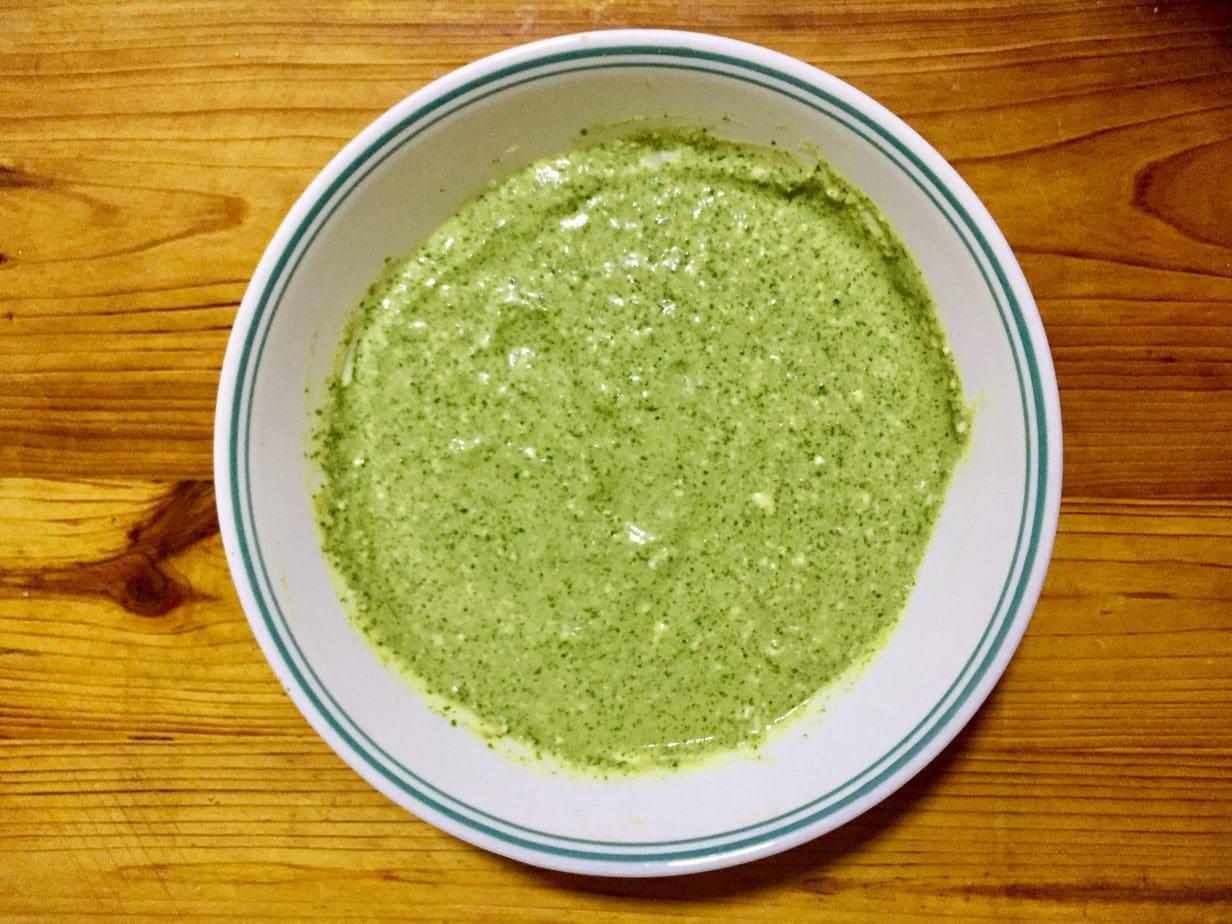 Green Hariyali paste.
