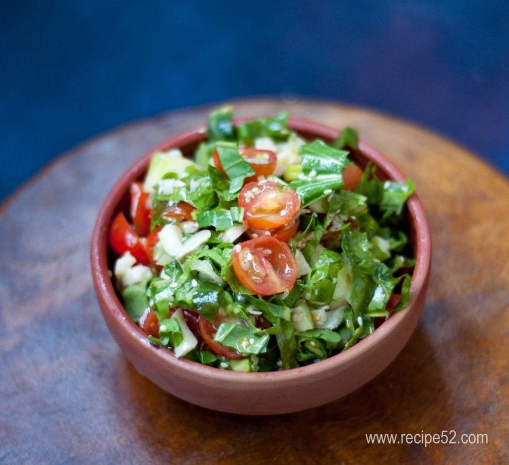 Cherry tomato Spinach Mozzarella cheese salad recipe