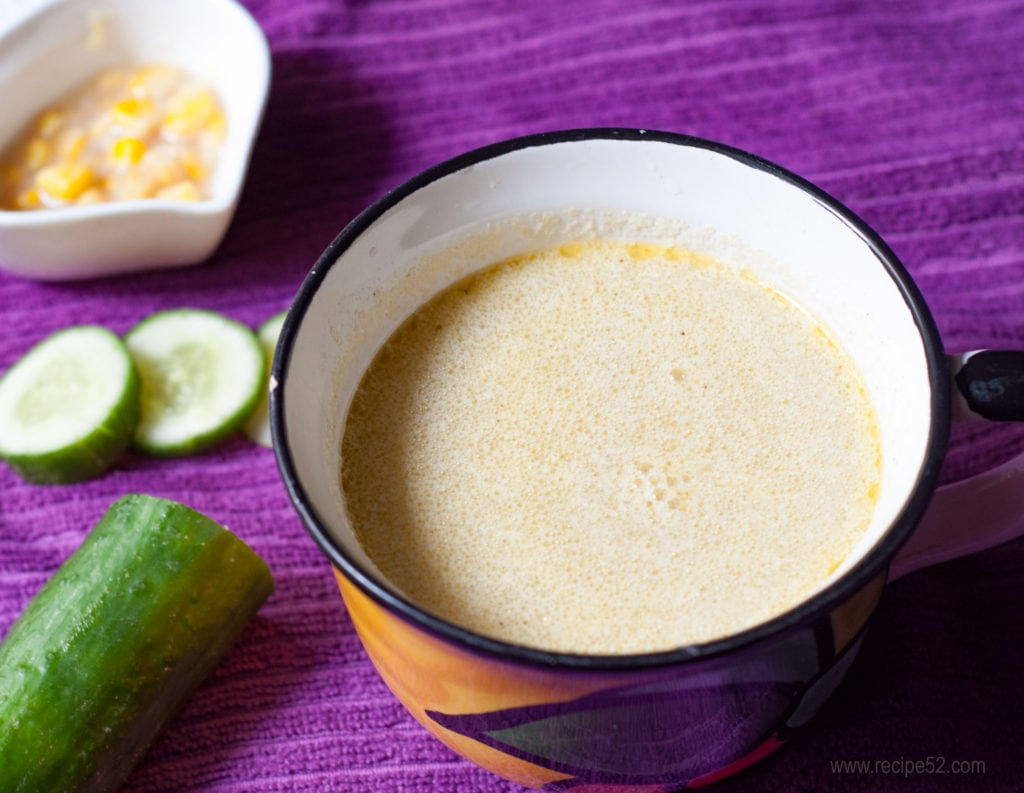 Best hot cucumber soup with cococnut milk.
