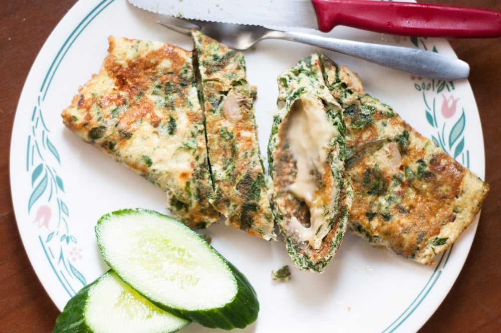 keto spinach Omelette Recipe