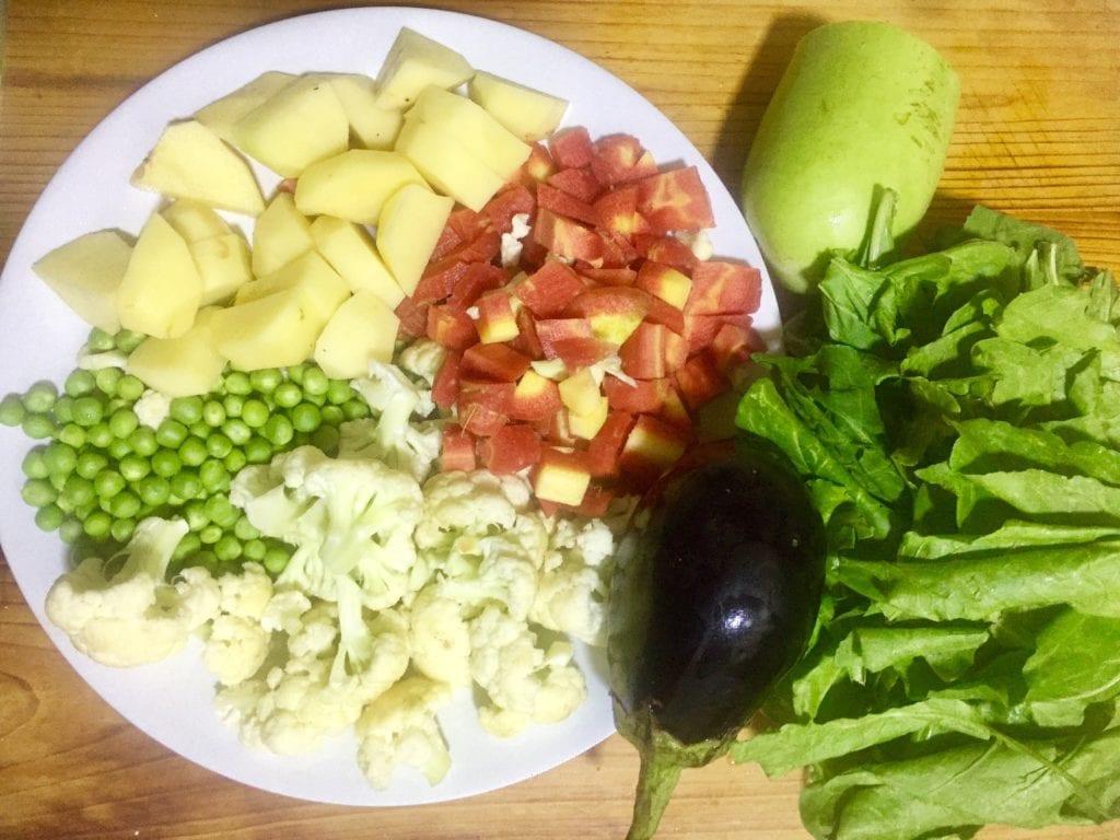 vegetables for biryani